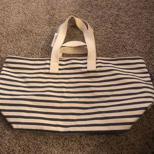 Baggu Weekend Bag -Stripe Navy and White